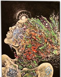 #lookup #ascension #painting #art #CATNIP #cosmic #hieroglyphics
