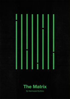 VALERIA, This visual image portrays a simple yet effective visual imagery where it has a straightforward understanding of how detailed sections of a movie are converted into a simplified version using shapes and textures. The lines unite together creating green lines that represent the codes in computers. The colour and lines are the main focus in this poster.
