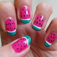Nail Art Design: Watermelons