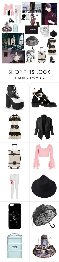 """""""Diabolik lovers OC"""" by living4aesthetic ❤ liked on Polyvore featuring Episode, Balenciaga, RED Valentino, Jupe de Abby, River Island, WearAll and Royal Worcester"""