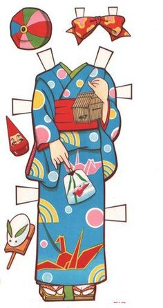Japanese Paper Doll Clothes