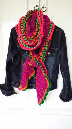 inspiration--love the bright colors with the dk denim