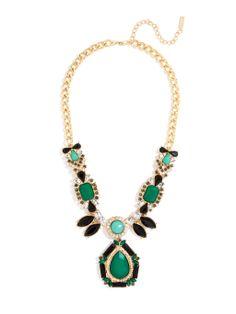 Emerald Amazon Pendant Necklace   BaubleBar