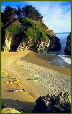 Sand Dollar Beach is the longest strand of sandy beach along the Big Sur coast in California