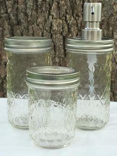 Copperas Creek Designs ~ Products ~ 3-Piece Clear Mason Jar Bath Set ~ Shopify
