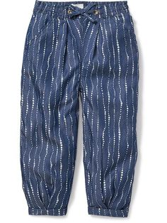 Pull-On Pleated Chambray Pants for Baby