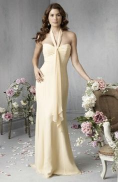 Sheath Sweetheart Long Chiffon Bridesmaid Dresses for Brides