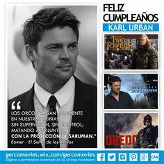 Felicitemos también a #KarlUrban. #Eomer en #ElSeñorDeLosAnillos Juez Dreed en #Dreed #StarTrek ¡Felicidades!