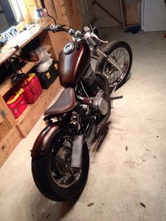 Final touches coming along Suzuki bobber savage ls650 boulevard s40