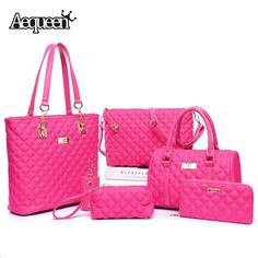 (37.14$)  Watch more here  - Women Bags Sets Designer Brand Purses Wallet+Clutch Handbags+Crossbody Bag+Key Holder Mujer Bolsos Elegant Totes 6PCS