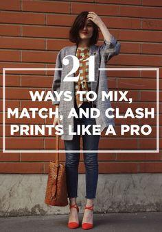 21 Ways To Mix, Match, And Clash Prints Like A Pro