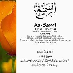 The 99 Beautiful Names of Allah with Urdu and English Meanings: 24- ALLAH names
