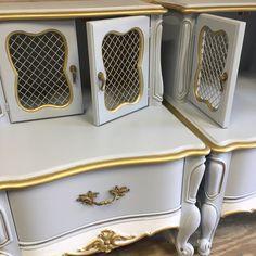 #frenchcountry #frenchprovincial #hollywoodregency #furniture #furnituredesign #interiordesign #homedecor #farmhouse #cottage #woodfurniture #woodworking #etsy #etsyseller #etsyshop #esty #forsale #nightstands #tables #redesign #painting #paintedfurniture https://www.etsy.com/people/LunarInteriorDesigns