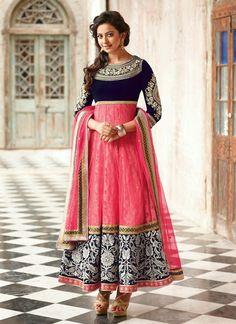 Awesome Net And Velvet Designer Salwar Suit