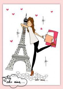 Illustration I LOVE PARIS  : Affiches, illustrations, posters par alixaime