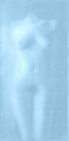 Light Blue Nude, oil on canvas, Alison Van Pelt