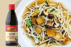 Today's lunch: Fried Bean Sprouts, mushrooms and tofu with Lee Kum Kee Hoisin Sauce!