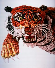 The Honeywell Animal Sculptures - Tiger - made from old electronics.     Gloucestershire Resource Centre  http://www.grcltd.org/scrapstore/