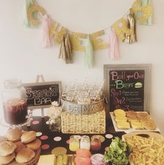 Build your own burger bar! Hamburger Party, Burger Bar, Throw A Party, Achilles, Build Your Own, Sangria, New Years Eve, Birthdays, Party