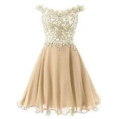 New A-Line Short Prom Bridesmaid Gowns Lace Chiffon Pageant Ball Party Dresses