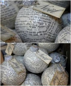 old book pages make cute ornaments