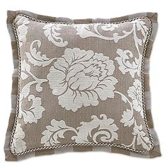 Croscill® Anessa 18-Inch Square Throw Pillow in Latte