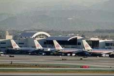 American Airline LAX - Hollywood sign - Nice Line up