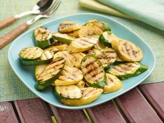 Get Marinated Zucchini and Summer Squash Recipe from Cooking Channel