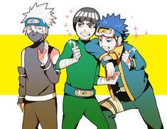 Hatake Kakashi, Maito Gai and Uchiha Obito Kakashi Hatake, Sasuke, Naruto E Boruto, Hinata, Anime Naruto, Naruto Fan Art, Naruto Funny, Wallpaper Naruto Shippuden, Naruto Wallpaper