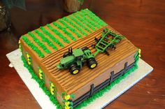 John Deere Cake I made this 2 layer cake for my son's 4th birthday. I used the easy strawberry filling between layers. I frosted with...