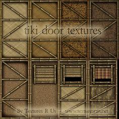 Textures R Us - Tiki Bamboo Door Textures