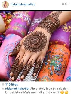 Round Mehndi Designs-Beautiful tikya mehndi designs The beautiful tradition of applying Mehndi or Henna is needed for every Indian and Pakistani celebration. Henna Hand Designs, Eid Mehndi Designs, Mehndi Design 2015, Finger Mehendi Designs, Round Mehndi Design, Latest Bridal Mehndi Designs, Beautiful Henna Designs, Mehndi Designs For Hands, Henna Tattoo Designs