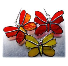 Trio of Butterflies Stained Glass Suncatcher £18.50
