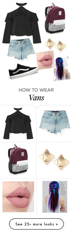 """Untitled #546"" by dw-fashion-unlimited on Polyvore featuring Alice + Olivia, T By Alexander Wang, Vans, Victoria's Secret, Valentino and Manic Panic NYC"