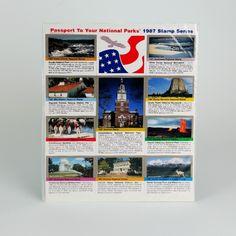 1987 Passport Stamp Set