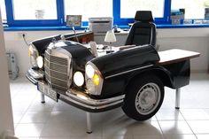 Repurposing an old Benz into an office desk