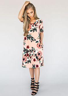 fc193a01c19 Midi Blush Classic Rose Dress - JessaKae