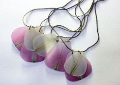 Corinna Giglberger/AhoyAhimsa - Pink Summer Necklace made with real pressed flower petals - lily of the Incas
