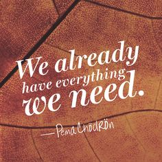 Pema Chodron Quote - Everything We Need (Because we have each other Josh❤️) Self Quotes, Daily Quotes, Love Quotes, Inspirational Quotes, Motivational Quotes, Change Quotes, Quotes Quotes, Qoutes, Strong Quotes