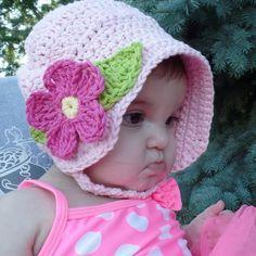 CROCHET How To #Crochet Summer Fun Baby Sun Bonnet #TUTORIAL #321 LEARN CROCHET - YouTube