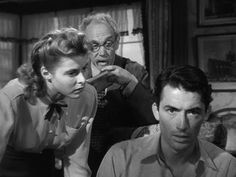 "Ingrid Bergman, Mijail Chéjov and Gregory Peck - ""Spellbound"" (Hitchcock, Alfred Hitchcock The Birds, The 39 Steps, Classic Film Noir, To Catch A Thief, North By Northwest, Gregory Peck, Ingrid Bergman, Film Stills, Thriller"