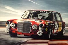 Mercedes Benz 300 SEL 6.8 AMG Red Pig
