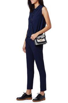Shearling Mini Rider Bag by Loeffler Randall Loeffler Randall, Fashion Lookbook, Jumpsuit, Bag, Mini, Pants, Type, Dresses, Overalls