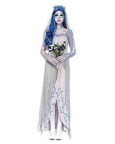 Adult Corpse Bride Dress Costume Deluxe - Tim Burton's Corpse Bride - Spirithalloween.com