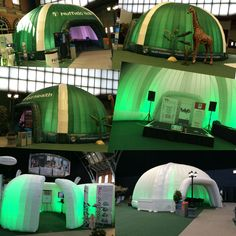 Some images from today's install for Nuffield Health in Manchester #Inflatable #Branding #Events #EventProfs #PopUp #Temporary #Structures