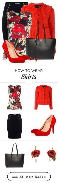 """""""Untitled #2399"""" by martina-cciv on Polyvore featuring T By Alexander Wang, Proenza Schouler, Dolce&Gabbana, Yves Saint Laurent, Christian Louboutin, women's clothing, women, female, woman and misses"""
