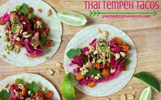 Thai Tempeh Tacos #MeatlessMonday #mexican #cincodemayo