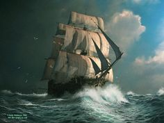 Seascape Digital Paintings by UK based artist Andy Simmons. From early ages, Andy liked to sketch fantasy castles and imaginative landscapes. In 1994 he started learning traditional media and studied portrait and landscape painting in oils.