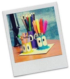 Ocean Kids Crafts - Bring the ocean to your desk with our squid pencil holder!