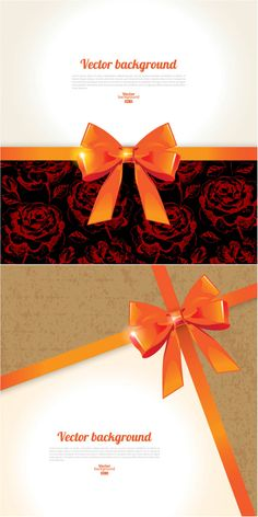 Backgrounds with bow #vector